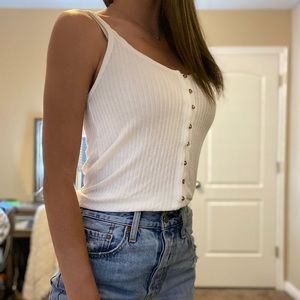 American Eagle Outfitters Tops - White Button Down Tank Top